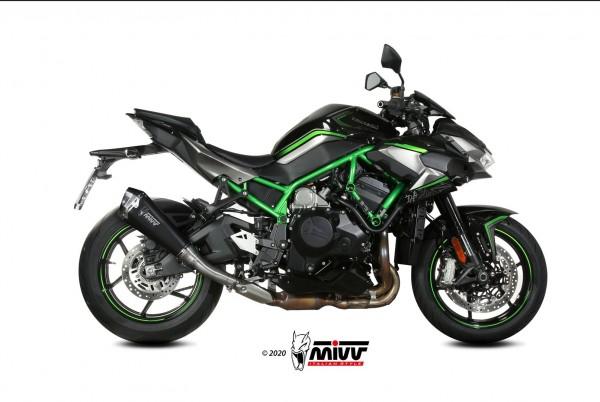 Mivv Delta Race Edelstahl schwarz Kawasaki Z 1000 H2 2020-