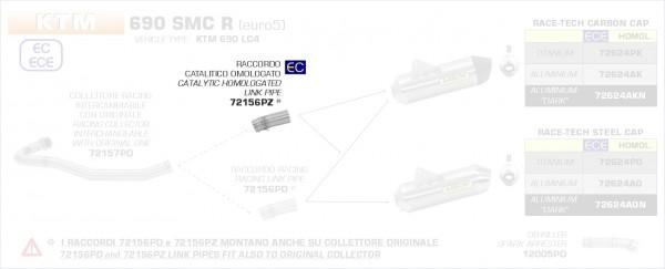 Arrow Verbindungsrohr mit Kat KTM 690 Enduro R 19-