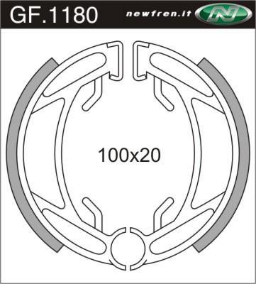 Newfren Bremsbacken GF.1180/ GF1180 100 x 20