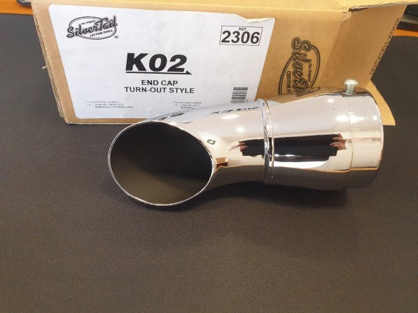LeoVince Silvertail KO2 Endst. Turn Out 60mm li.