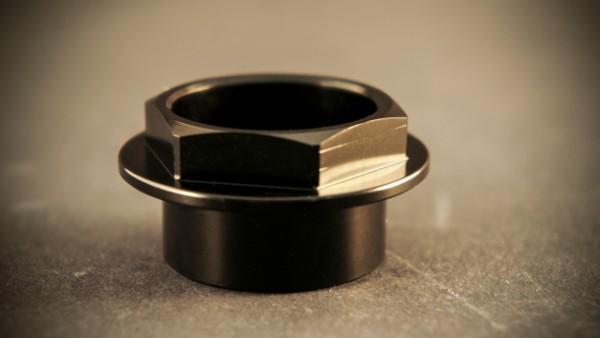 Dado perno ruota anteriore piccolo Ergal fork nut small, Color: Black